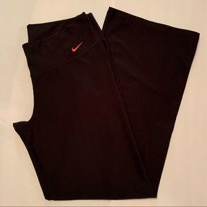 Nike Dri-Fit Black Wide Leg Yoga Pants Large
